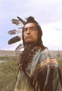 Graham Greene (Oneida) offered a wonderful portrayal of the dying Indian as Kicking Bird in Dances with Wolves.  Greene's character was stuck touring a Russian prince around the west looking for authentic experiences, including a wonderful 'shoot an Indian' scene featuring Kevin Costner as the target.