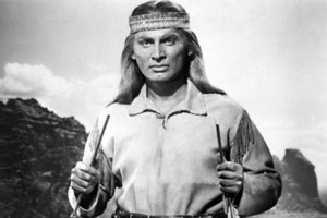 Jeff Chandler portrays Geronimo's peace-loving brother-in-law in Broken Arrow, a landmark 1946 film portraying native culture in a sympathetic light.
