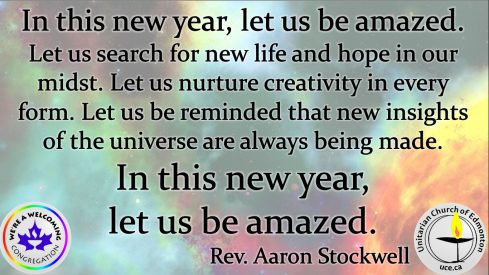 In this new year let us be amazed